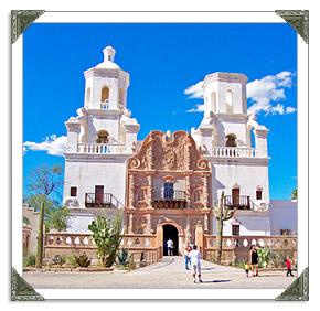 San Xavier Mission in Tucson AZ