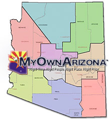 Arizona Real Estate Map Homes For Sale in AZ Cities